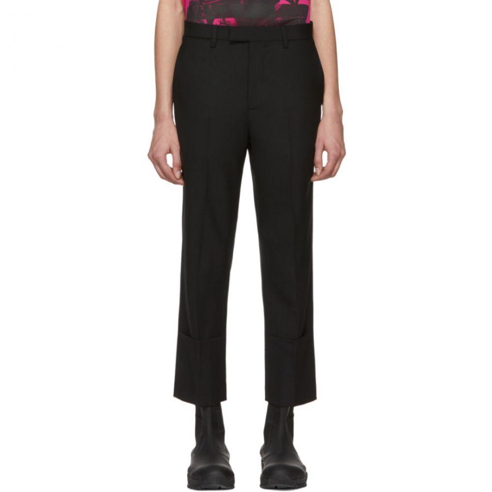 ラフ シモンズ Raf Simons レディース ボトムス・パンツ スキニー・スリム【Black Classic Slim-Fit Turn-Up Trousers】
