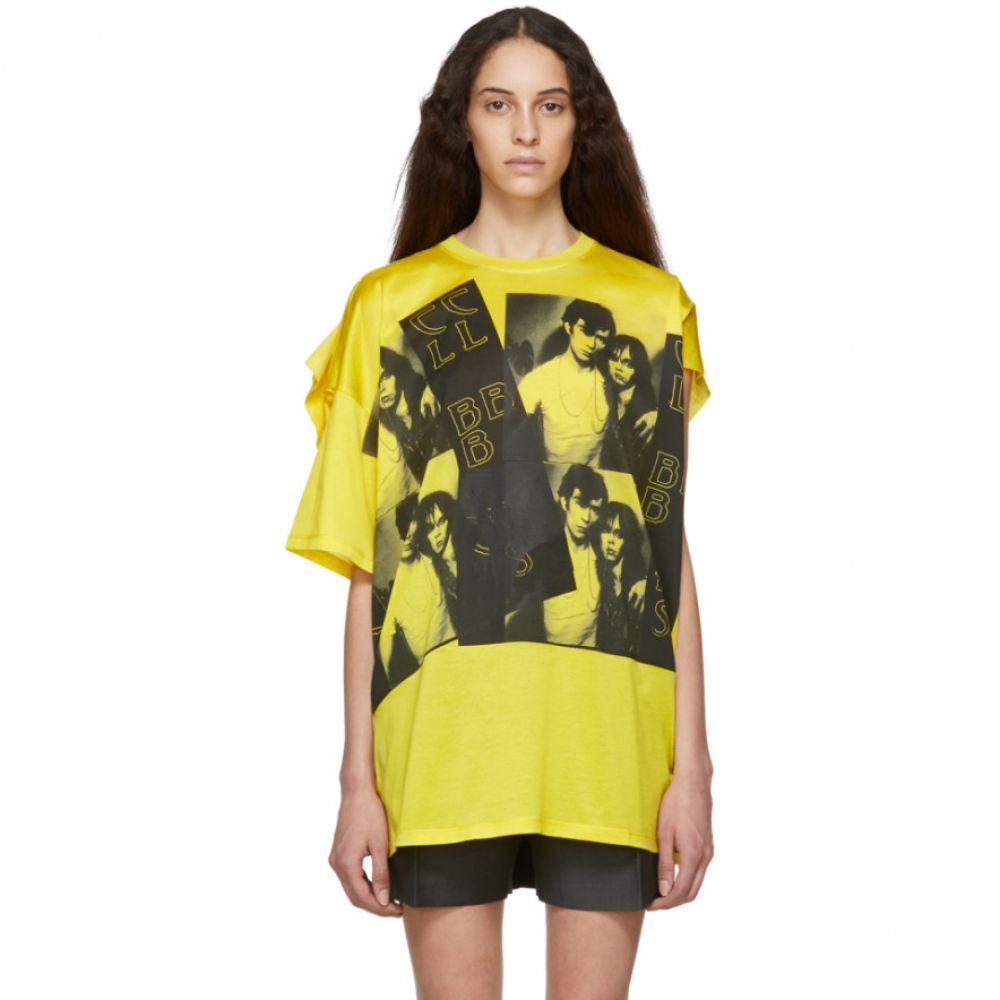 ラフ シモンズ Raf Simons レディース トップス Tシャツ【Yellow Displaced Sleeve T-Shirt】
