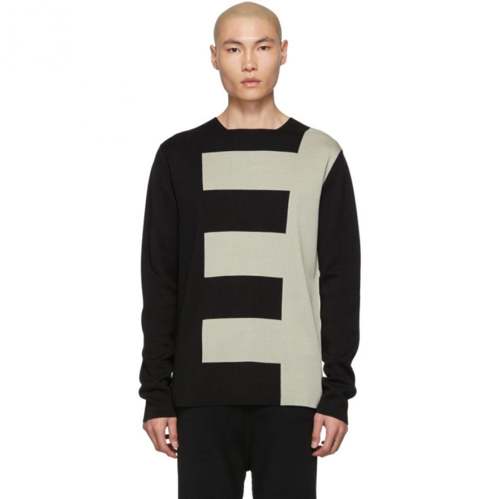 リック オウエンス Rick Owens メンズ トップス【Black & Grey Biker Level Sweater】