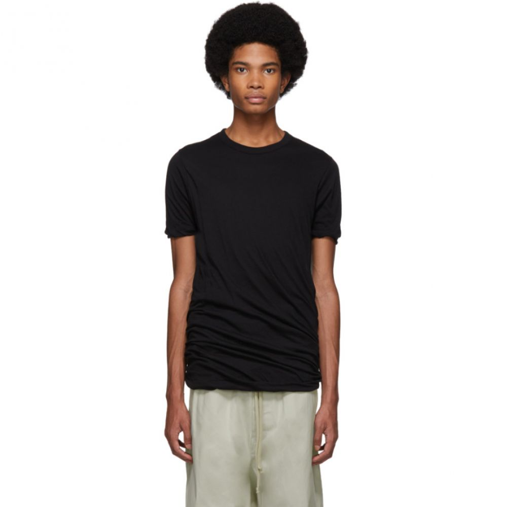 リック オウエンス Rick Owens Owens メンズ トップス Tシャツ【Black Tシャツ【Black メンズ Double T-Shirt】, 最新人気:4f6b27a2 --- sunward.msk.ru