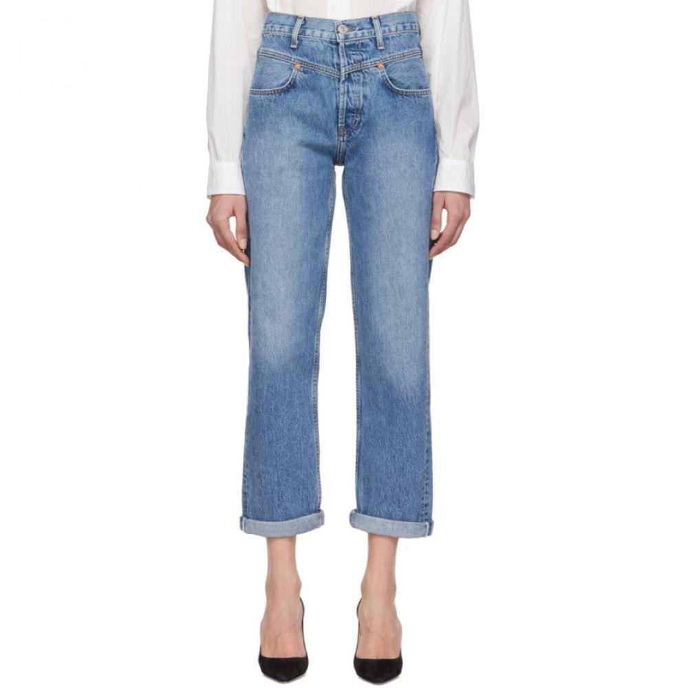 リダン Re/Done レディース ボトムス・パンツ ジーンズ・デニム【Blue Originals Double Yoke Jeans】