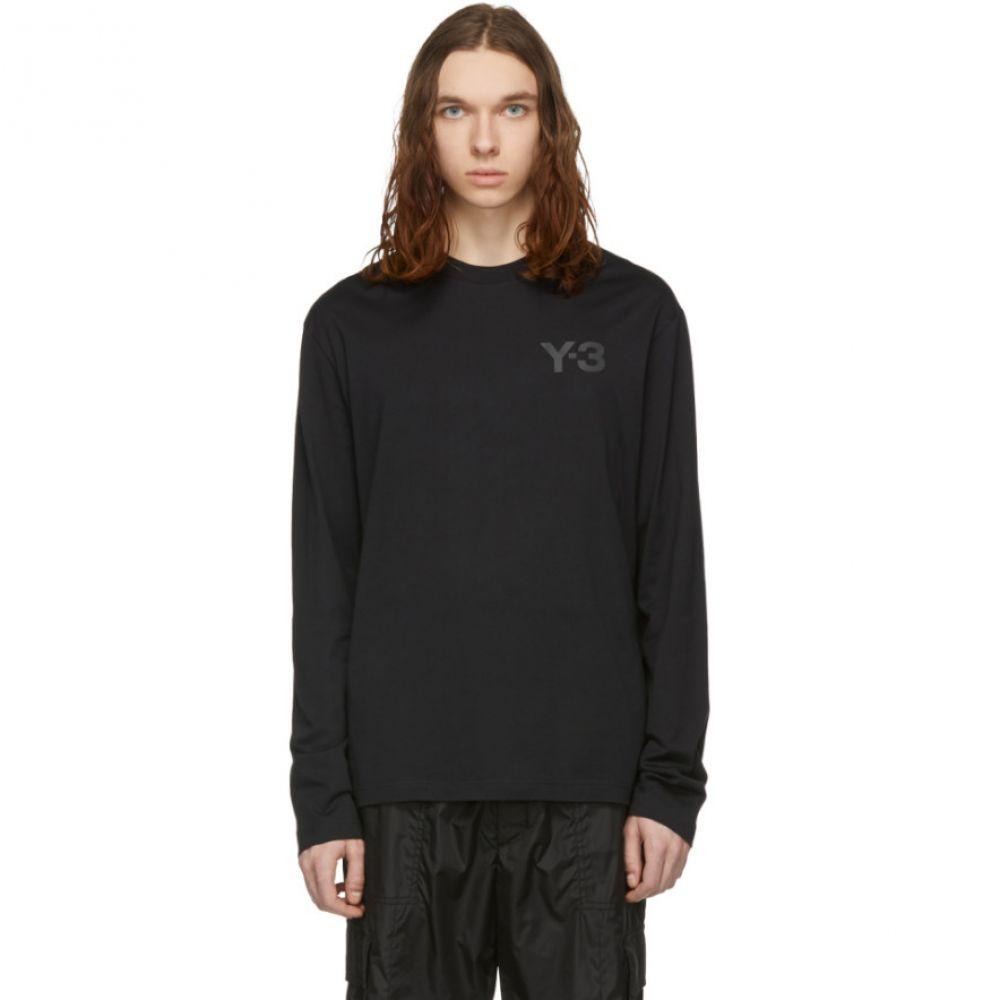 ワイスリー Y-3 メンズ トップス 長袖Tシャツ【Black Logo Long Sleeve T-Shirt】