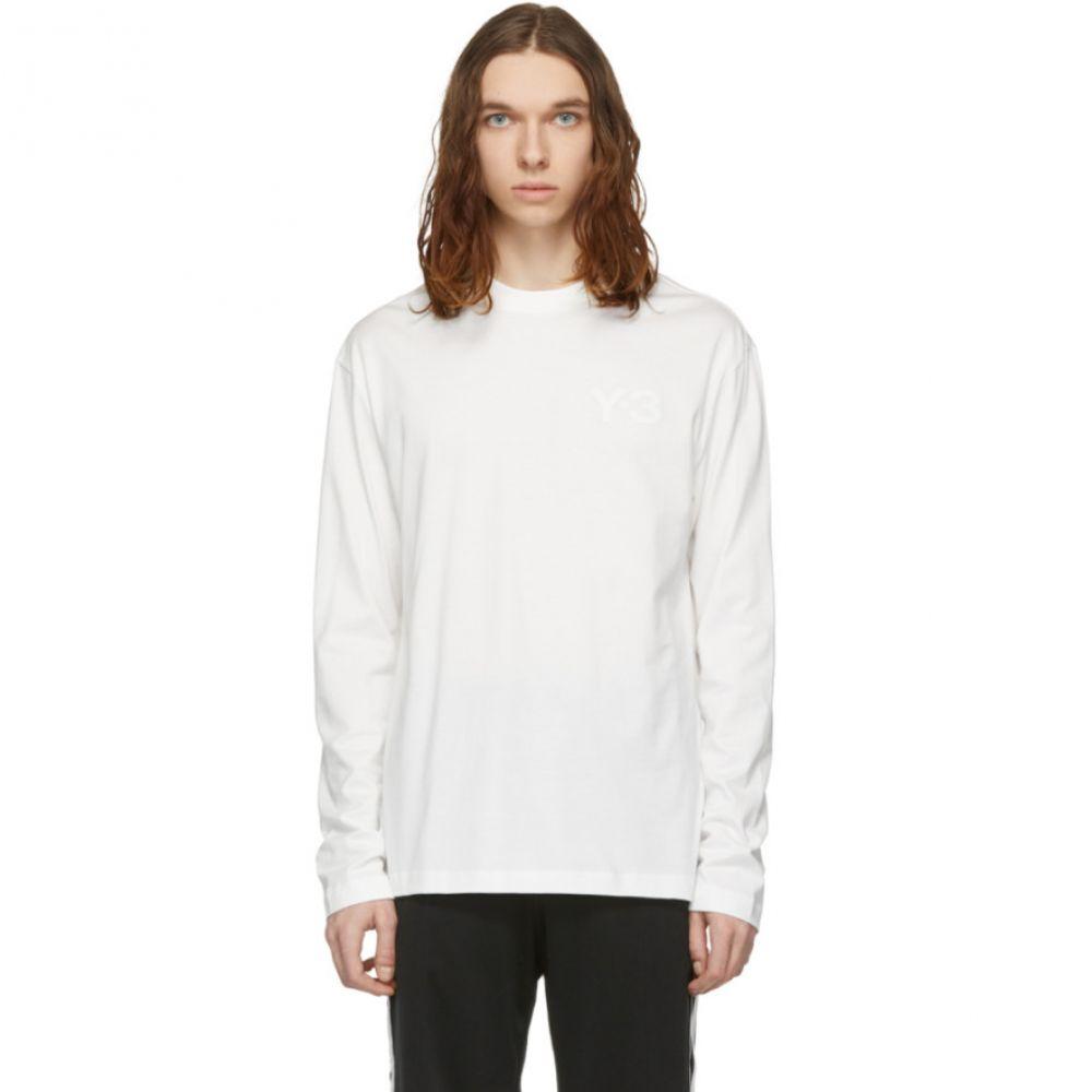ワイスリー Y-3 メンズ トップス 長袖Tシャツ【White Logo Long Sleeve T-Shirt】