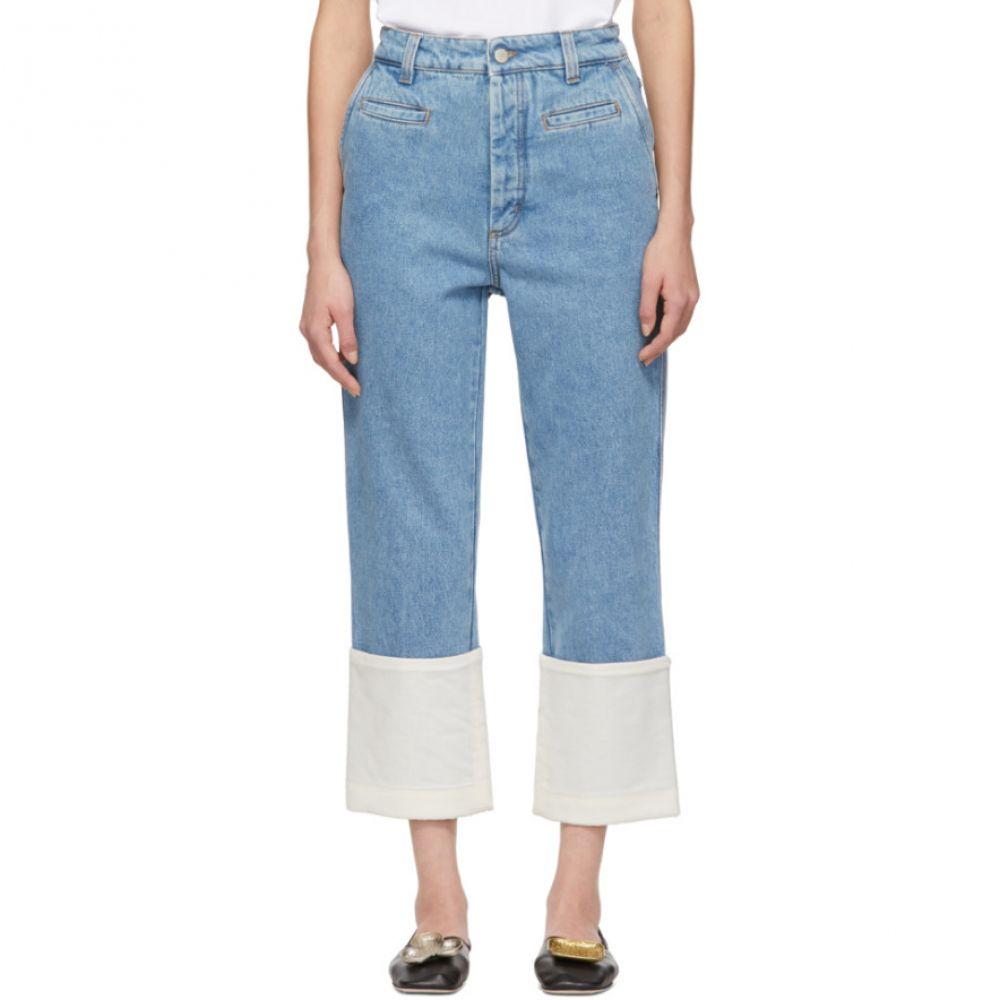 ロエベ Loewe レディース ボトムス・パンツ ジーンズ・デニム【Indigo Fisherman Stone Washed Jeans】