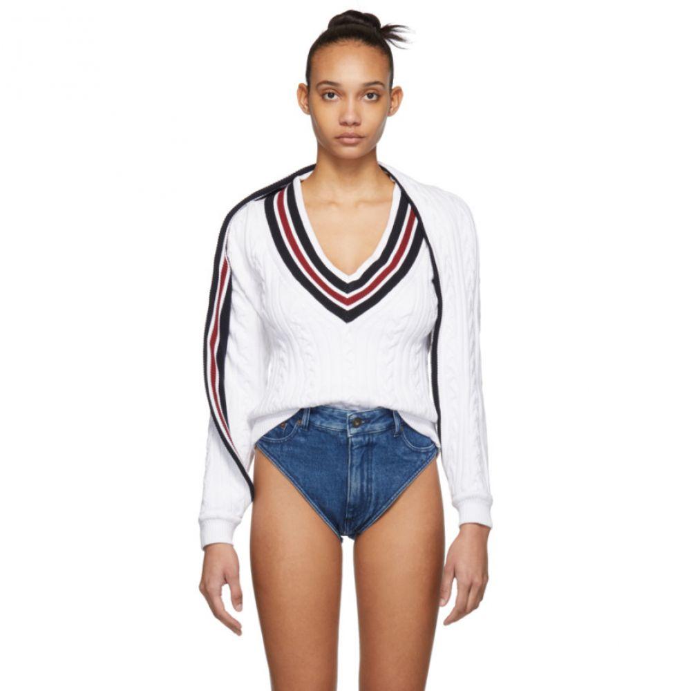 ワイプロジェクト Y/Project レディース トップス ニット・セーター【White V-Neck Sweater】