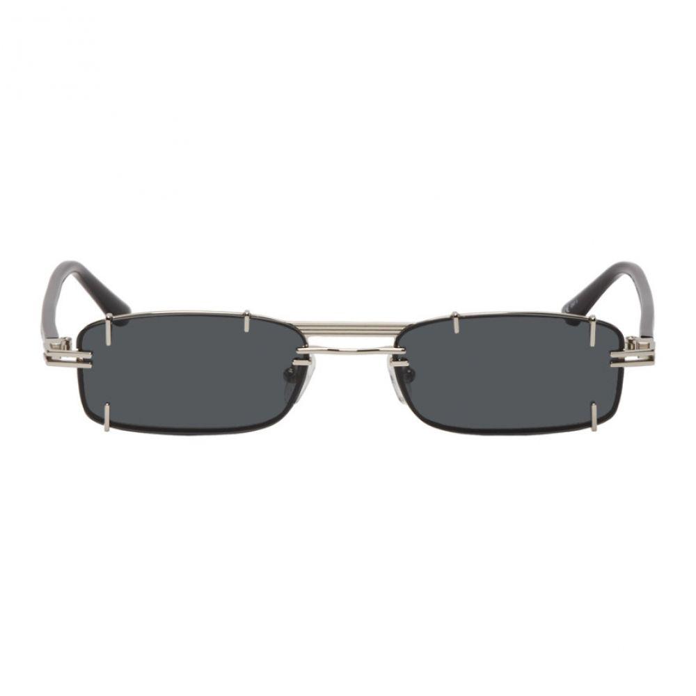 ワイプロジェクト Y/Project メンズ メガネ・サングラス【Silver & Black Linda Farrow Edition Neo Sunglasses】