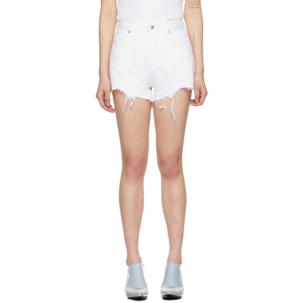 アレキサンダー ワン Alexander Wang レディース ボトムス・パンツ ショートパンツ【White Denim Bite Zip Shorts】