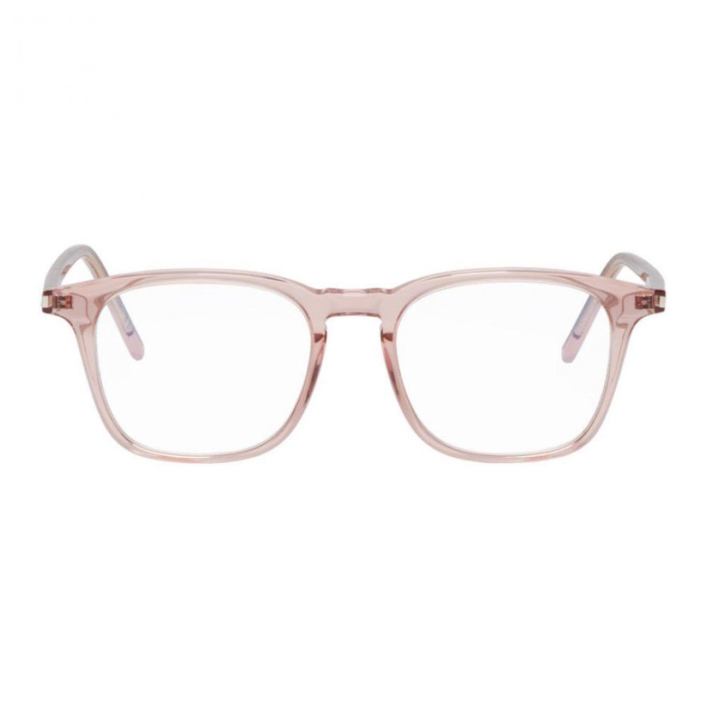 イヴ サンローラン Saint Laurent レディース メガネ・サングラス【Pink Square Optical Glasses】