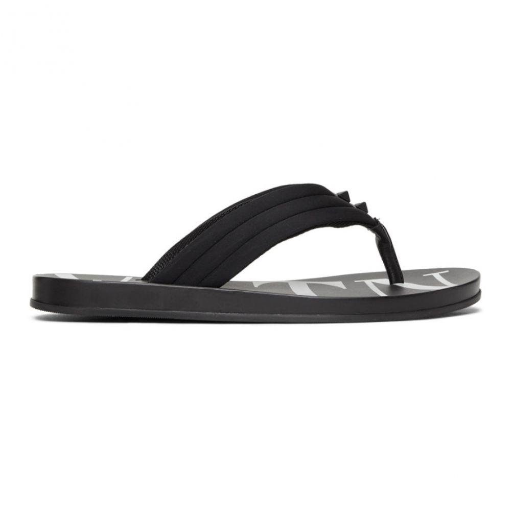 ヴァレンティノ Valentino メンズ シューズ・靴 シューズ・靴 メンズ ビーチサンダル Flip【Black Garavani 'VLTN' Flip Flops】, カジュアルファッション NOD:d590cdba --- sunward.msk.ru