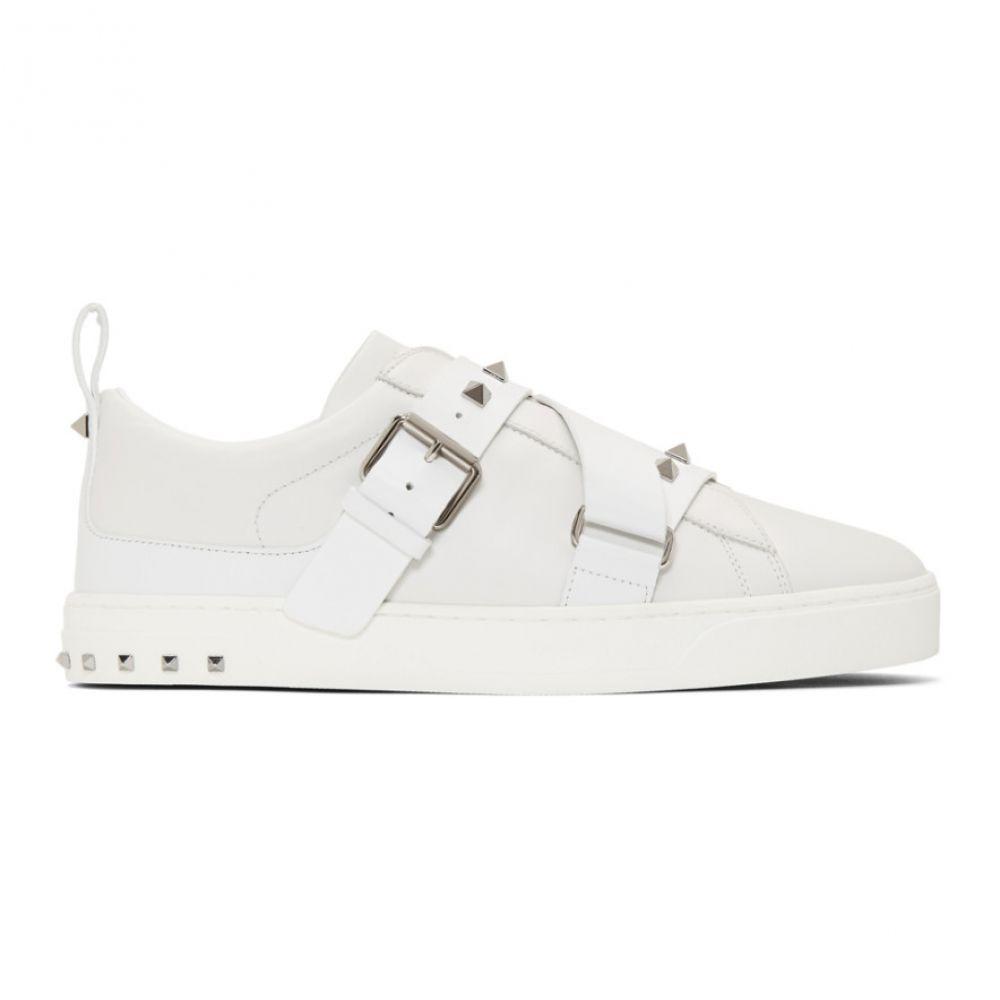 ヴァレンティノ Valentino メンズ シューズ・靴 スリッポン・フラット【White Garavani V-Punk Slip-On Sneakers】