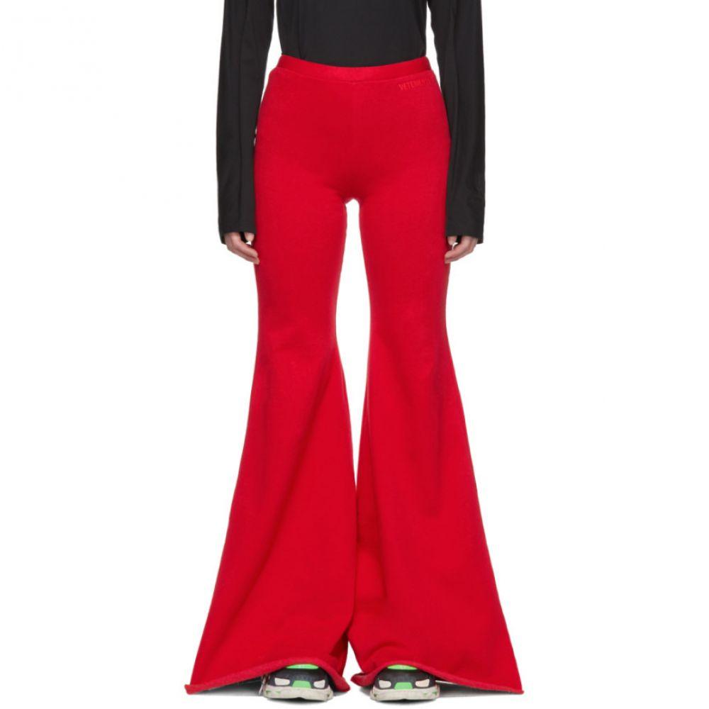 ヴェトモン Vetements レディース ボトムス・パンツ スウェット・ジャージ【Red Evening Jogging Lounge Pants】