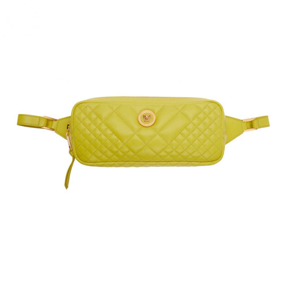 ヴェルサーチ Versace レディース バッグ ボディバッグ・ウエストポーチ【Green Quilted Tribute Belt Bag】
