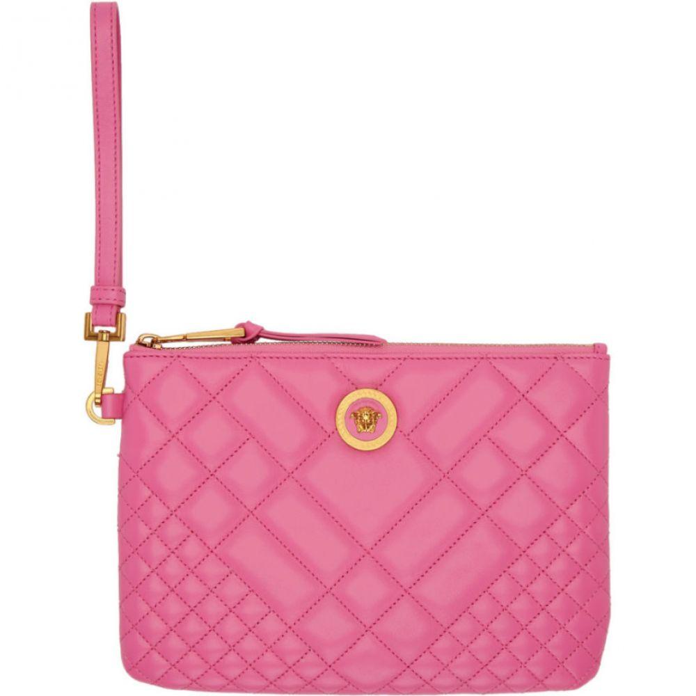 ヴェルサーチ Versace レディース レディース バッグ クラッチバッグ【Pink Quilted Versace Medusa Pouch バッグ】, ヤストミチョウ:f9abdd94 --- sunward.msk.ru