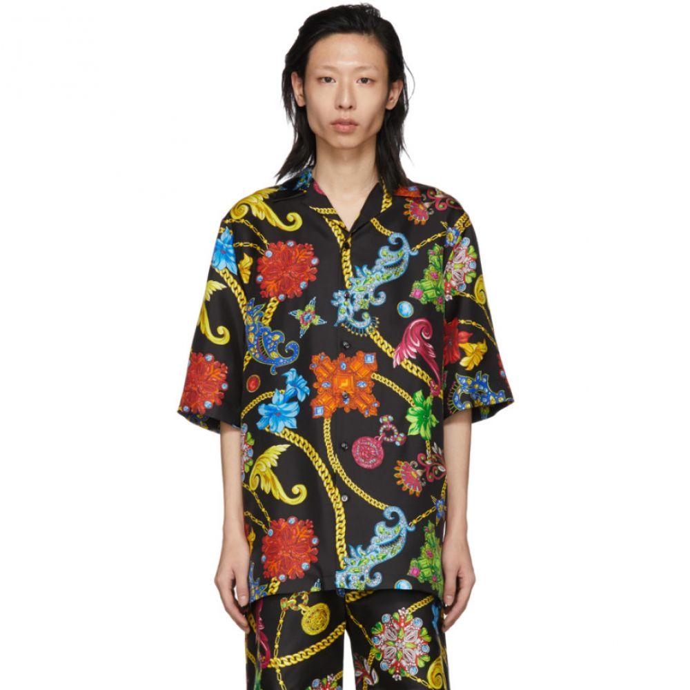 ヴェルサーチ Versace メンズ トップス シャツ【Multicolor Silk Floral Shirt】
