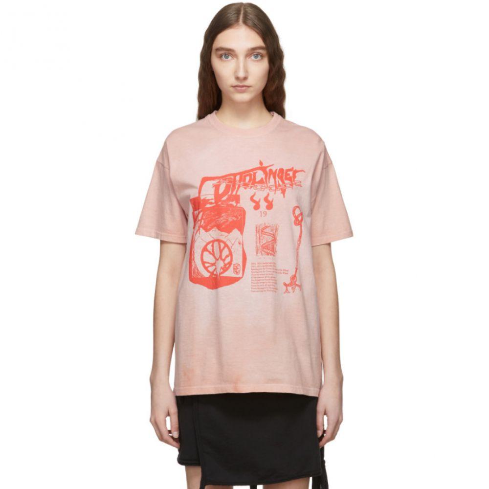 オットリンガー T-Shirt】 Ottolinger レディース トップス Tシャツ【Pink Logo Graphic T-Shirt Logo トップス】, アヅマムラ:4c12ab35 --- sunward.msk.ru