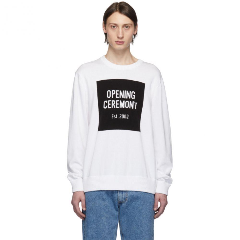 オープニングセレモニー Opening Ceremony メンズ トップス【White Box Logo Sweater】