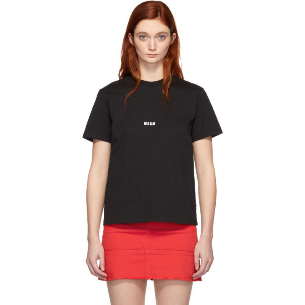 エムエスジーエム MSGM レディース トップス Tシャツ【Black Mini Logo T-Shirt】