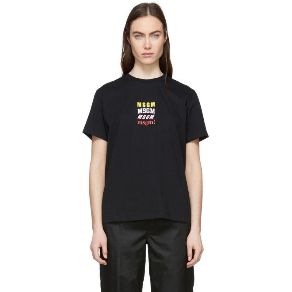 エムエスジーエム MSGM レディース トップス Tシャツ【Black 'msgm!' T-Shirt】