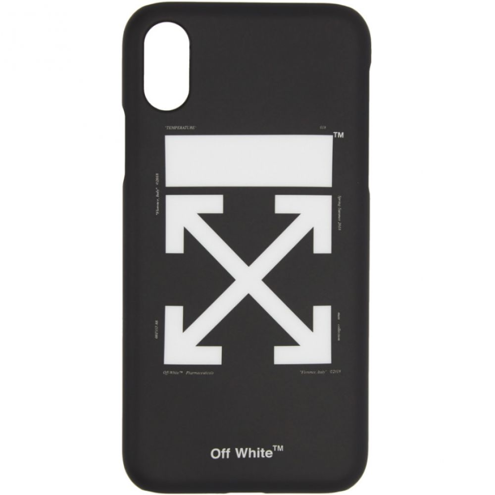 オフ-ホワイト Off-White メンズ iPhone (X)ケース【Black Arrows iPhone X Case】