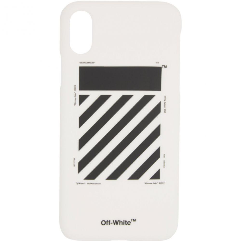 オフ-ホワイト Off-White メンズ iPhone (X)ケース【White Diag iPhone X Case】