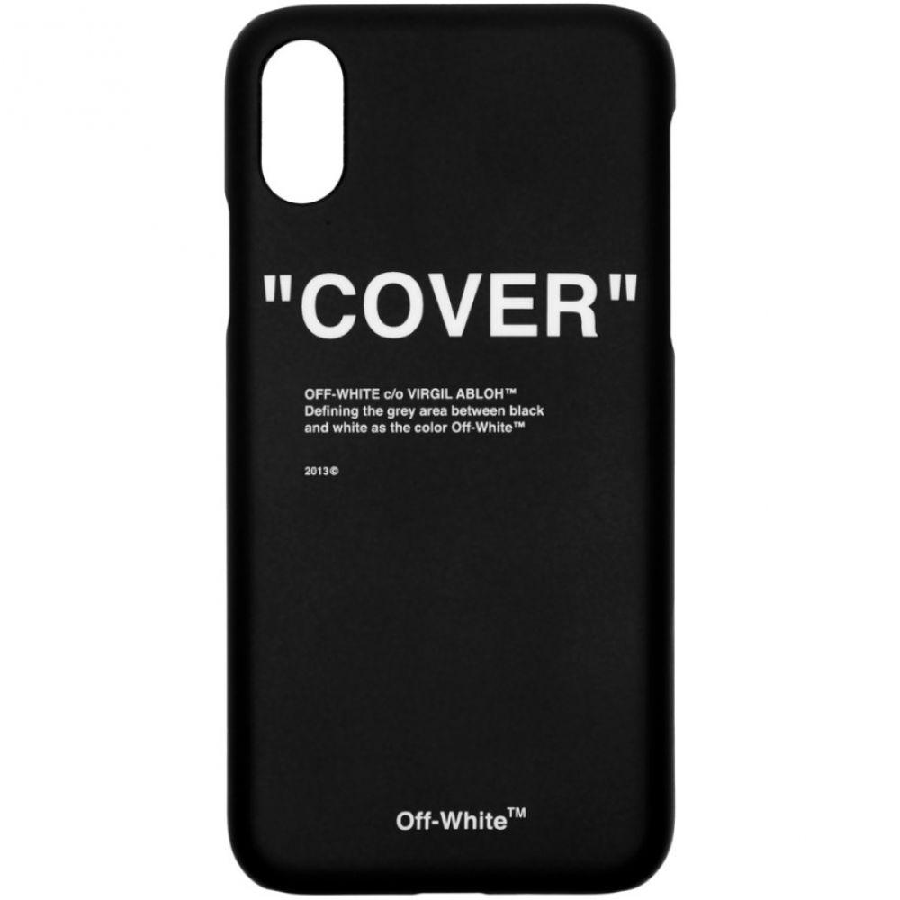 オフ-ホワイト Off-White メンズ iPhone (X)ケース【Black Quote iPhone X Case】