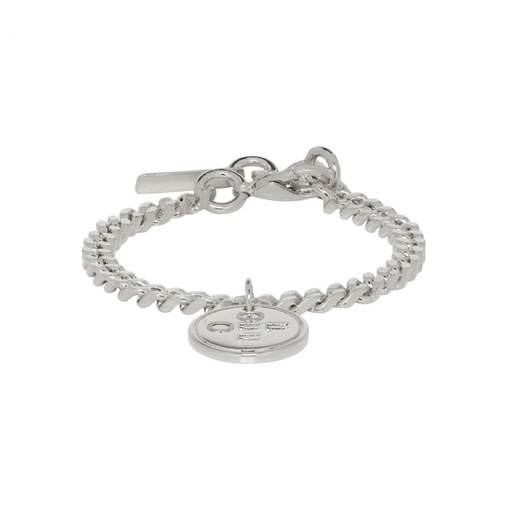 オフ-ホワイト Off-White メンズ ジュエリー・アクセサリー ブレスレット【SSENSE Exclusive Silver Logo Cross Bracelet】