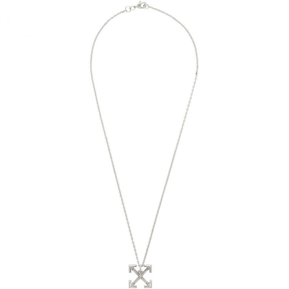 オフ-ホワイト Off-White メンズ ジュエリー・アクセサリー ネックレス【Silver Small Arrow Necklace】