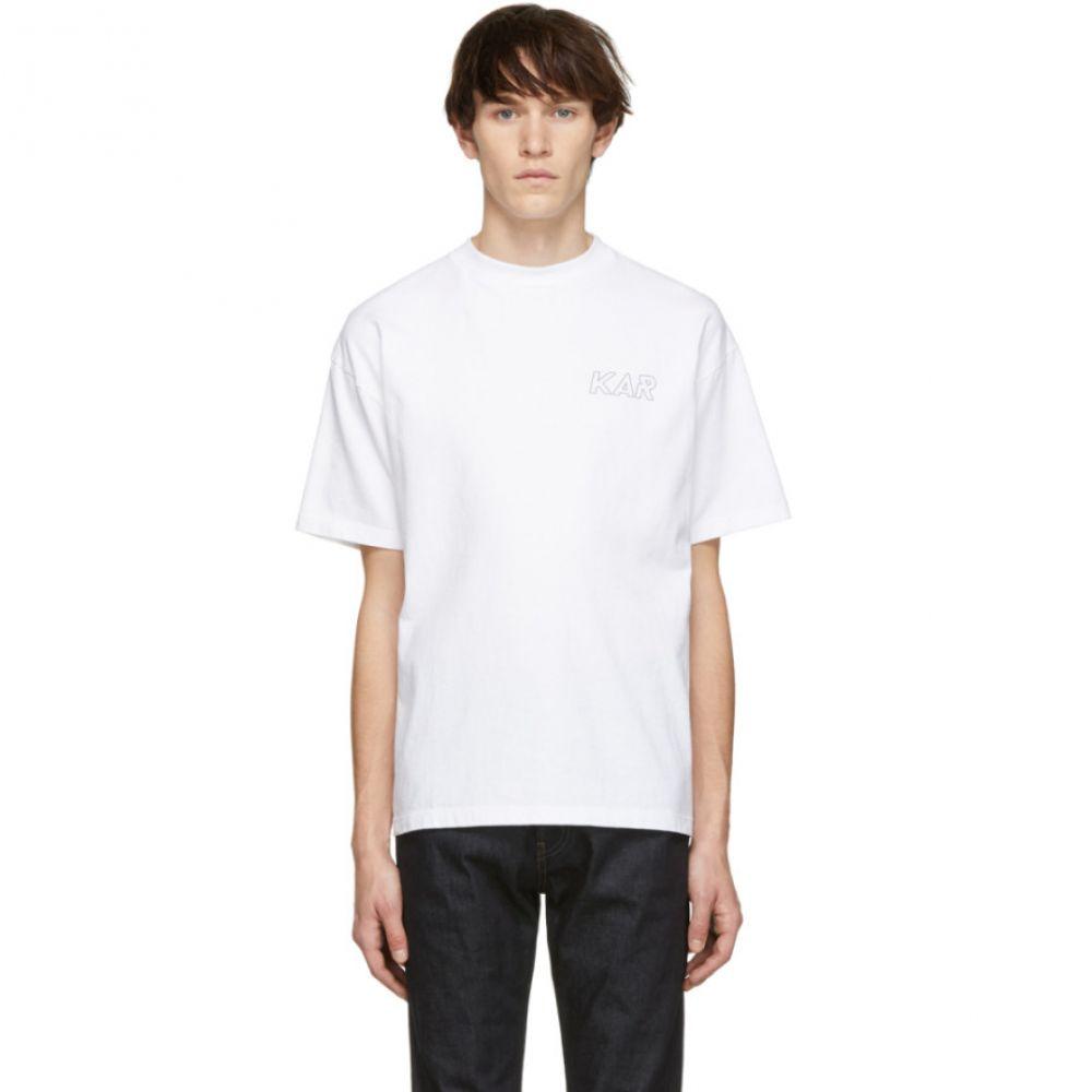 カー KAR / L'Art de L'Automobile メンズ トップス Tシャツ【White Logo T-Shirt】