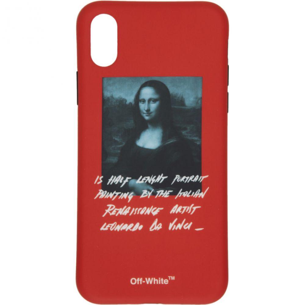 オフ-ホワイト Off-White レディース iPhone (X)ケース【Red Monalisa iPhone X Case】