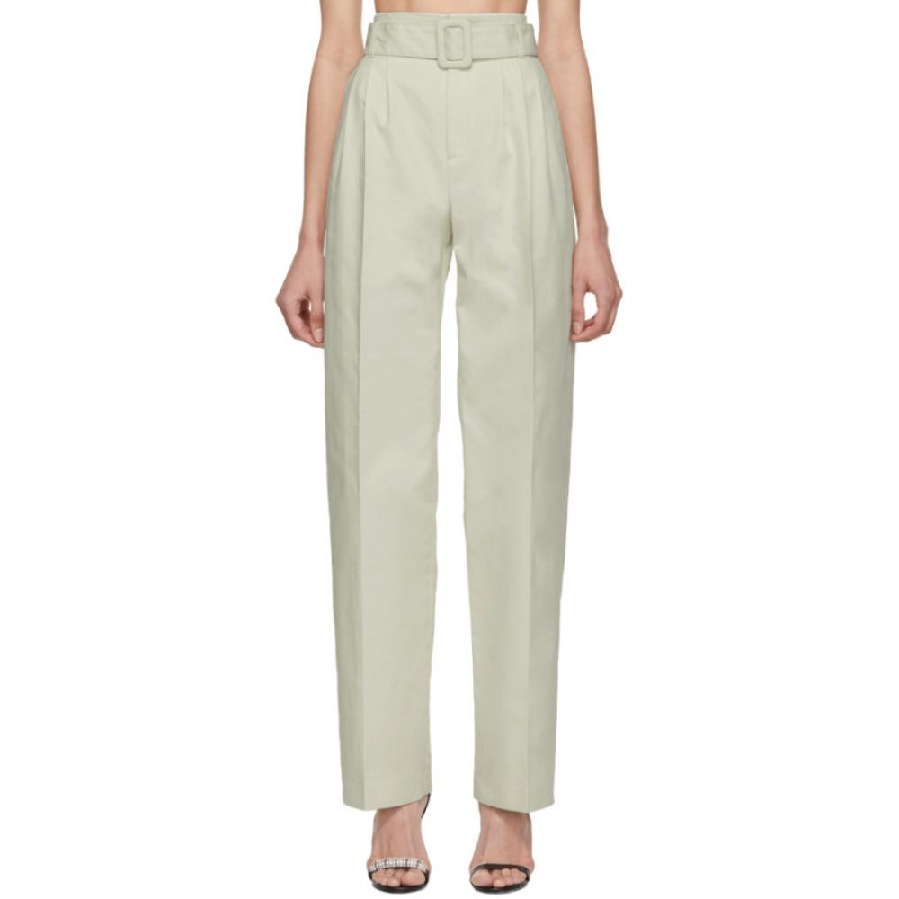 オフ-ホワイト Off-White レディース ボトムス・パンツ【Cotton Front Pleat Trousers】