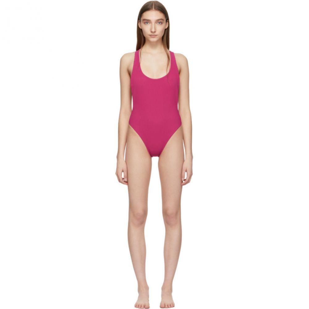 オフ-ホワイト Off-White レディース 水着・ビーチウェア ワンピース【Pink Cannette Cross Bodysuit】