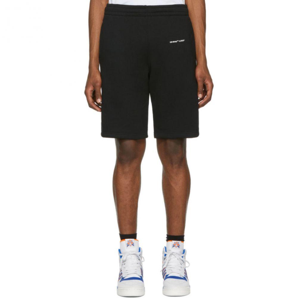 オフ-ホワイト Off-White メンズ ボトムス・パンツ ショートパンツ【Black Logo Sweat Shorts】