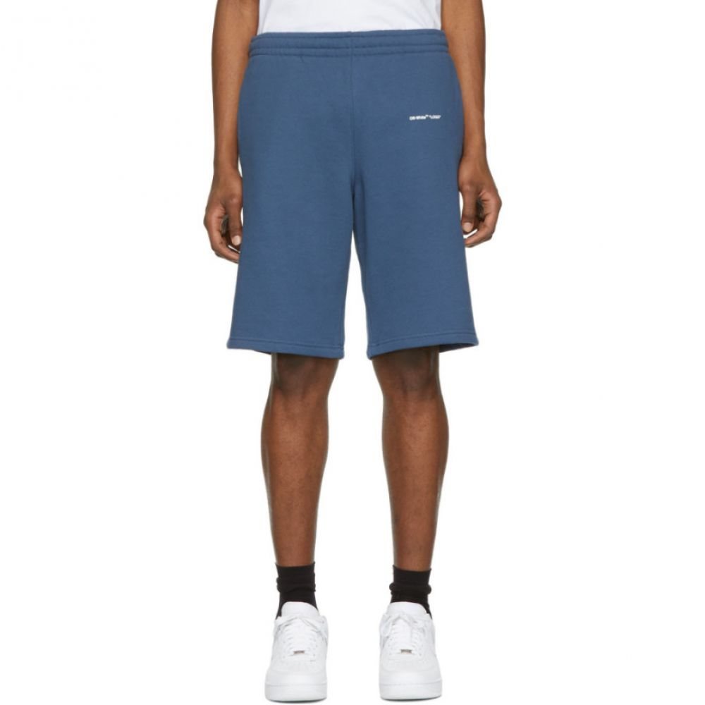 オフ-ホワイト Off-White メンズ ボトムス・パンツ ショートパンツ【Blue Logo Sweat Shorts】