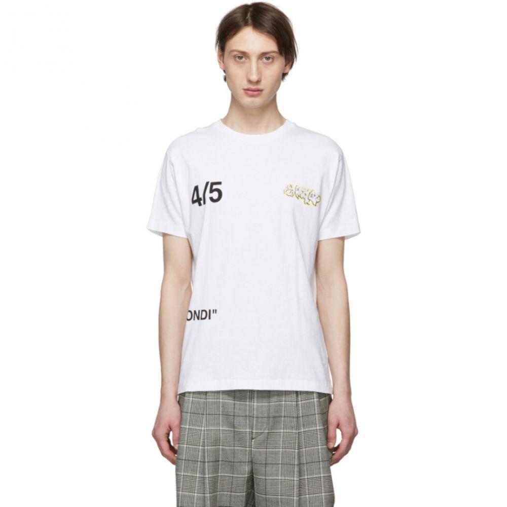 オフ-ホワイト Off-White Bus Off-White メンズ トップス Tシャツ【White Bus T-Shirt】 Skinny T-Shirt】, ナカガワク:4fd285c0 --- sunward.msk.ru