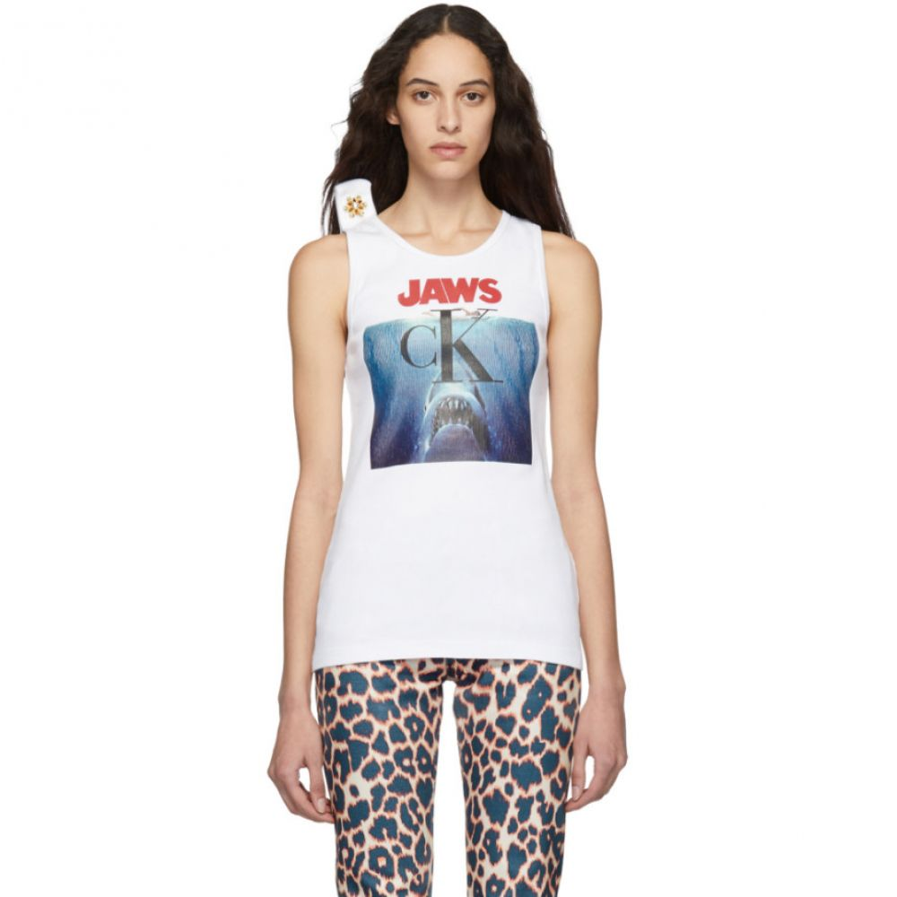 カルバンクライン Calvin Klein 205W39NYC レディース トップス タンクトップ【White 'Jaws' Tank Top】