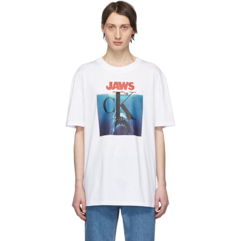 カルバンクライン Calvin Klein 205W39NYC メンズ トップス Calvin Tシャツ【White トップス 'Jaws' Tシャツ【White T-Shirt】, サラリーマン応援隊スーツ&コート:282030d8 --- sunward.msk.ru