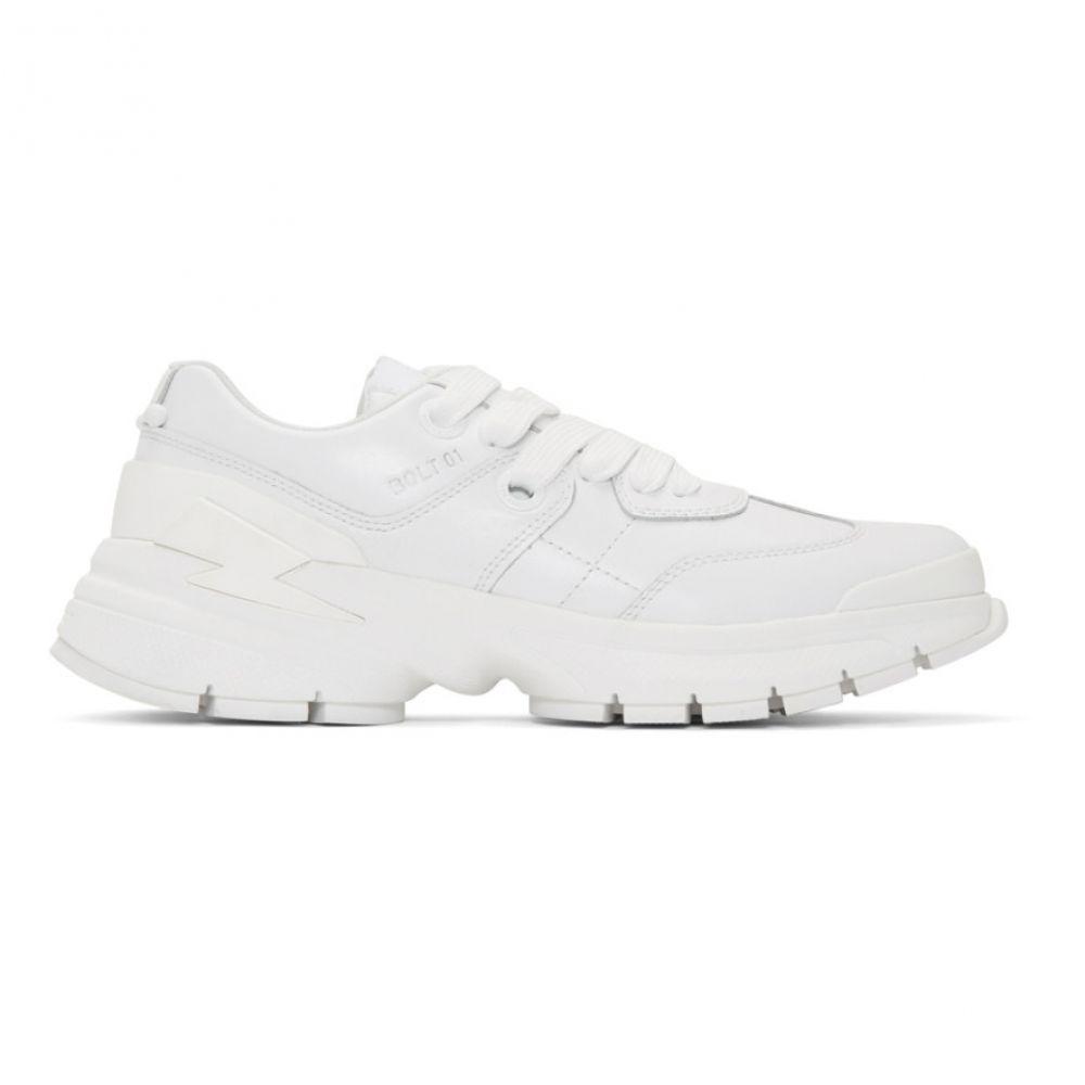 ニール バレット Neil Barrett メンズ シューズ・靴 スニーカー【White Thunderbolt Sneakers】