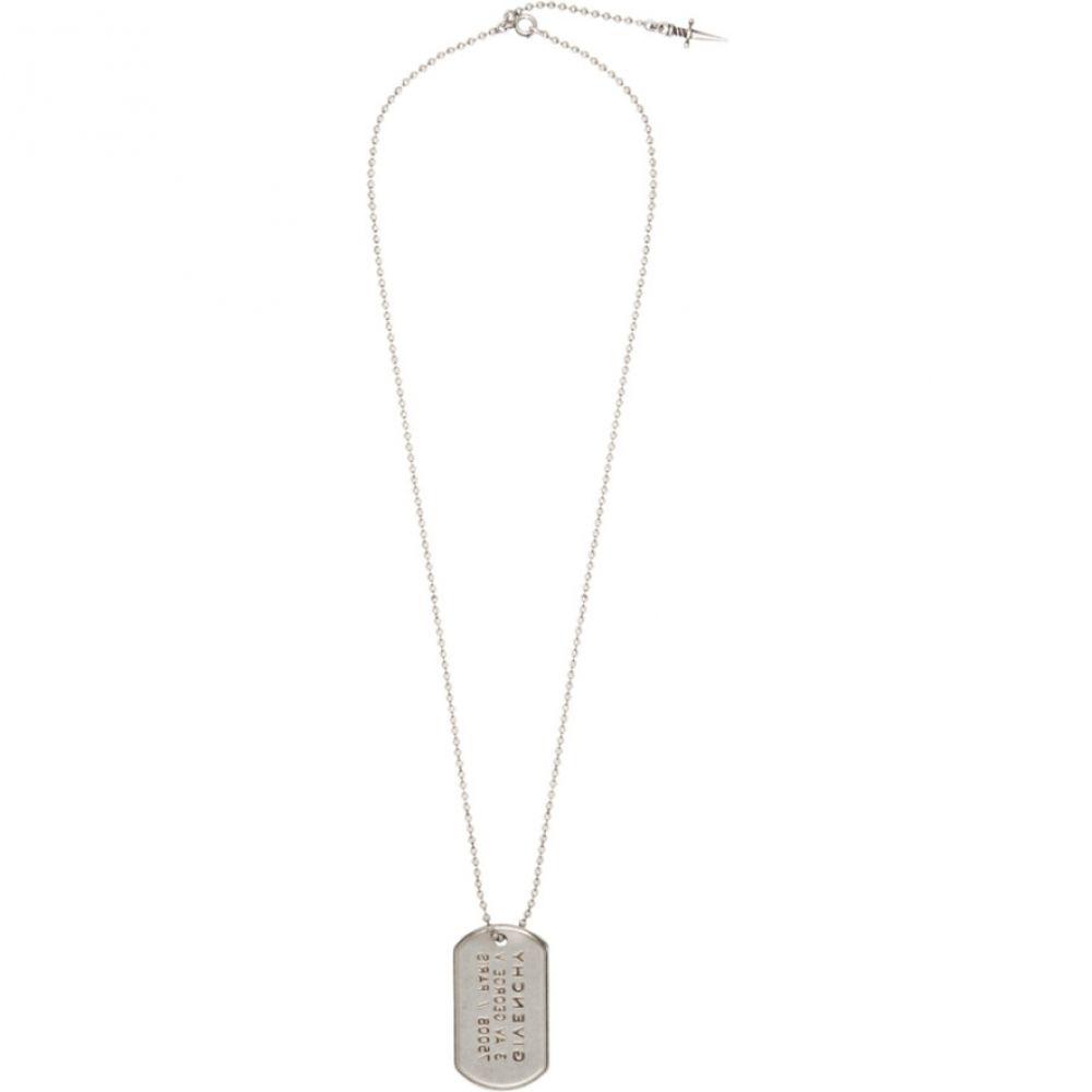 ジバンシー Givenchy メンズ ジュエリー・アクセサリー ネックレス【Silver Tag Necklace】