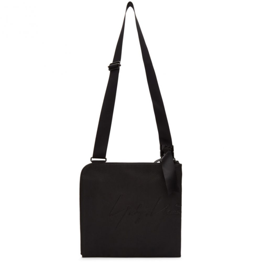 ヨウジヤマモト Yohji Yamamoto メンズ バッグ メッセンジャーバッグ【Black Logo Messenger Bag】