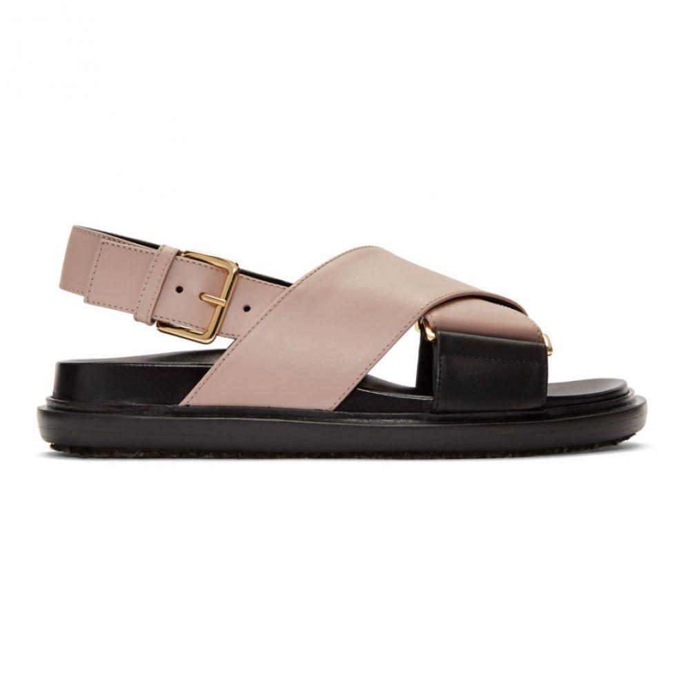 マルニ Marni レディース シューズ・靴 サンダル・ミュール【Pink Fussbett Sandals】