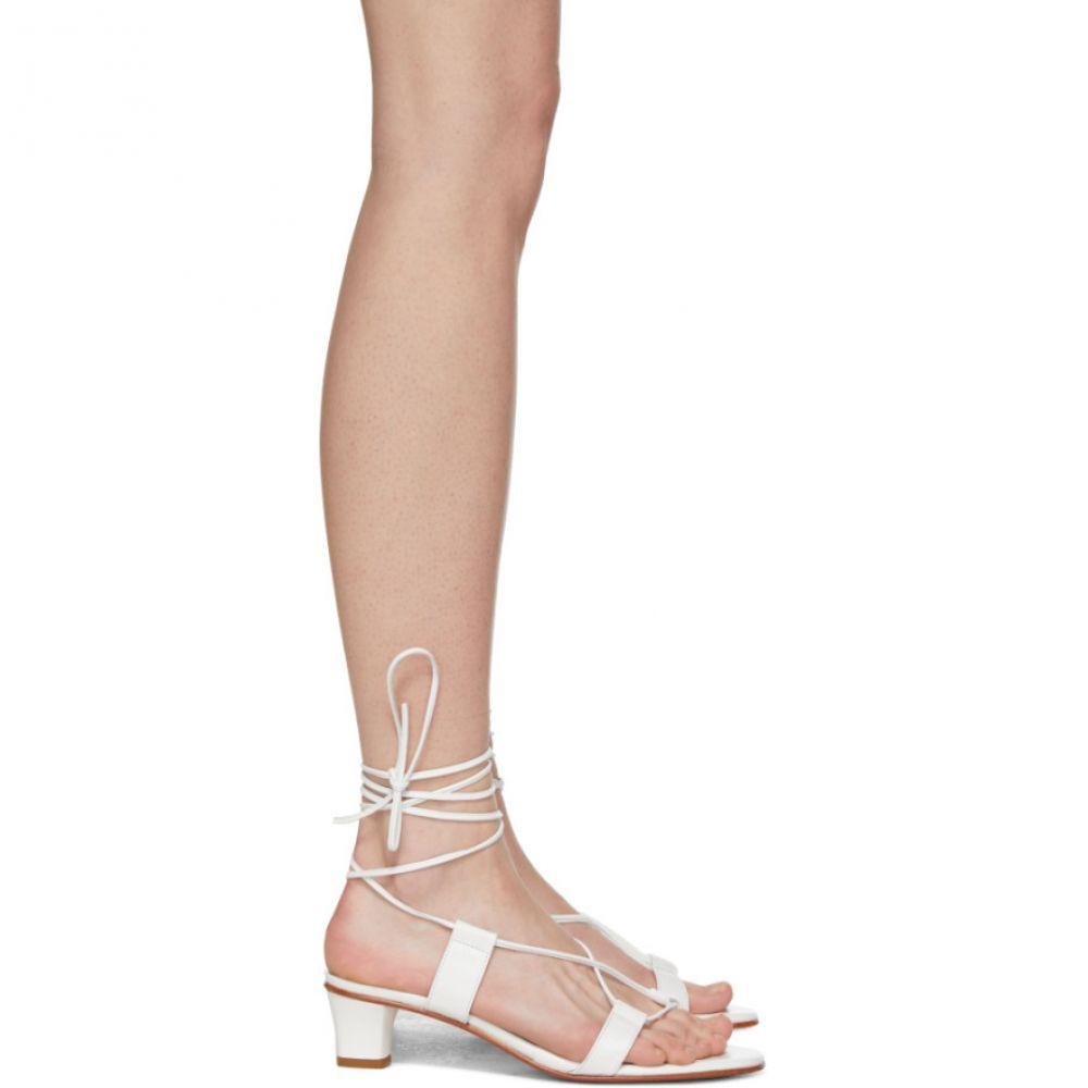 マルティニアーノ Martiniano レディース シューズ・靴 サンダル・ミュール【White Pavone Sandals】