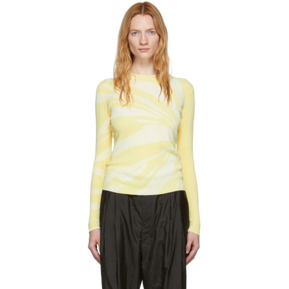 プロエンザ スクーラー Proenza Schouler レディース トップス ニット・セーター【Yellow Tie-Dye Knit Sweater】