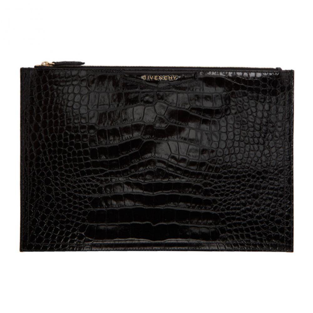 ジバンシー Givenchy レディース バッグ クラッチバッグ Antigona【Black Croc Antigona バッグ Pouch Croc】, 印鑑とハンコケースの花紋印章:f9567b77 --- sunward.msk.ru