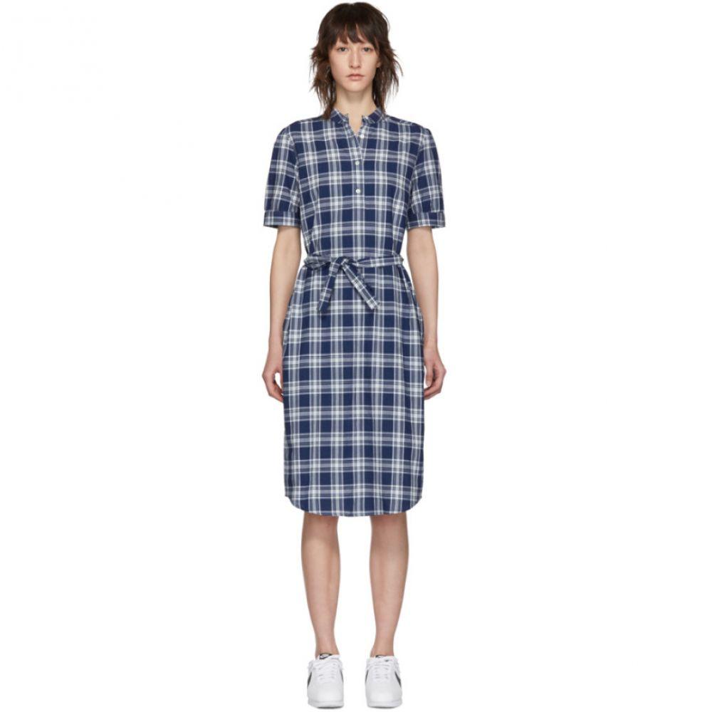 アーペーセー A.P.C. レディース ワンピース・ドレス ワンピース【Blue & White Clea Dress】