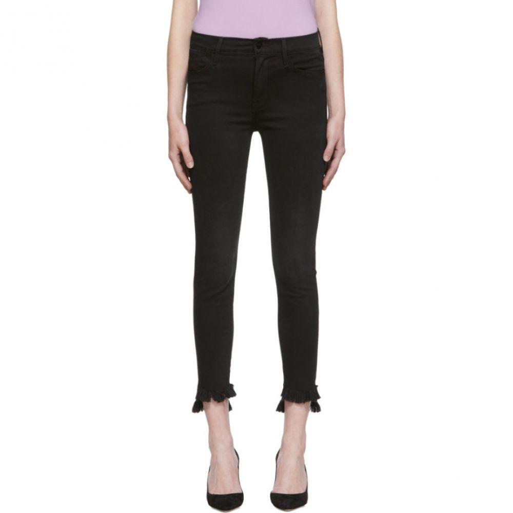 フレーム Frame レディース ボトムス・パンツ ジーンズ・デニム【Black 'Le High Skinny' Raw Stagger Jeans】