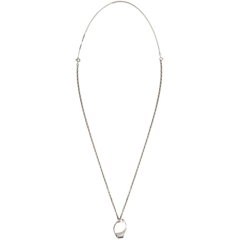 メゾン マルジェラ Maison Margiela メンズ ジュエリー・アクセサリー ネックレス【Silver Ring Necklace】