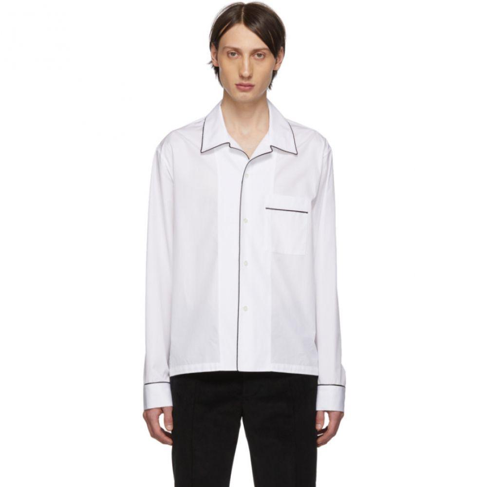 メゾン マルジェラ Maison Margiela メンズ インナー・下着 パジャマ・トップのみ【White Pyjama Shirt】