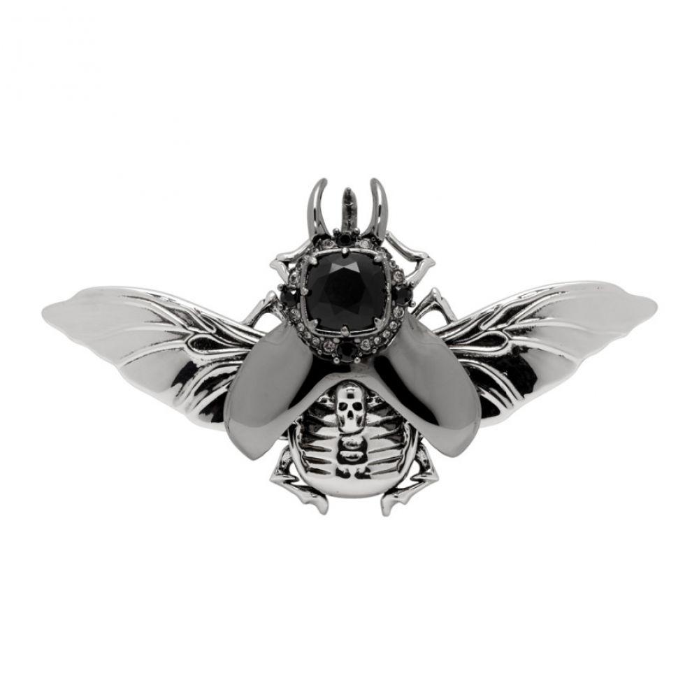 【メーカー直送】 アレキサンダー Jewel マックイーン Oversized Alexander McQueen Flying メンズ ジュエリー・アクセサリー【Silver Oversized Flying Jewel Bug Pin】, フジコウ(本革 カシミヤ ダウン):05537204 --- newplan.com