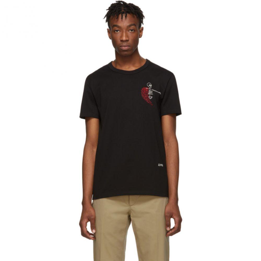 アレキサンダー マックイーン Alexander McQueen メンズ トップス Tシャツ【Black Mini Skeleton T-Shirt】
