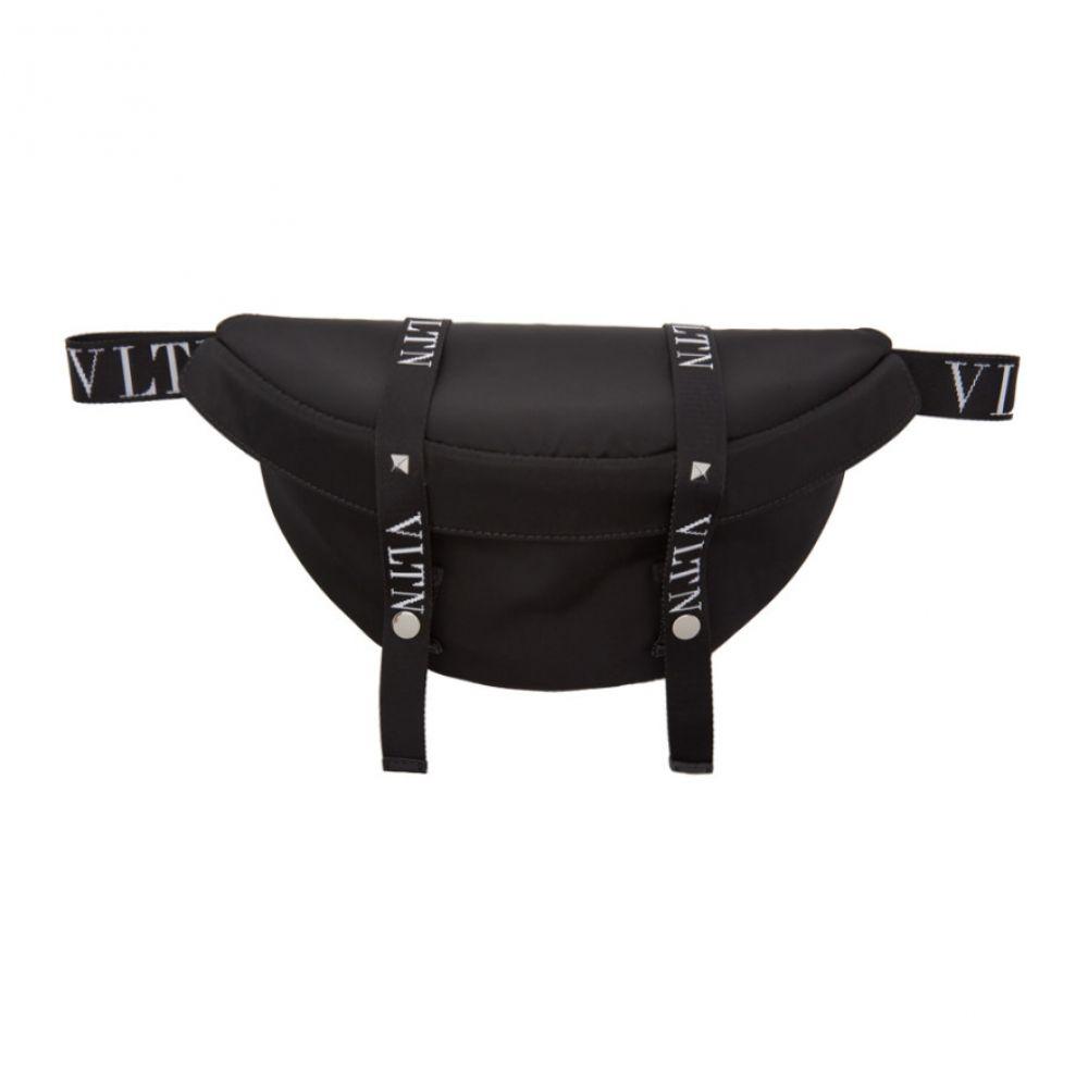 ヴァレンティノ Valentino メンズ バッグ ボディバッグ・ウエストポーチ【Black Garavani 'VLTN' Belt Bag】